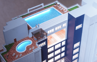 TERRACE SWIMMING POOL AND DECK